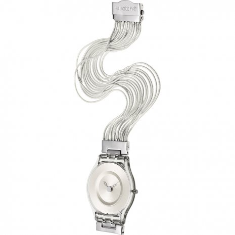 Swatch Silver Meshstream Large watch
