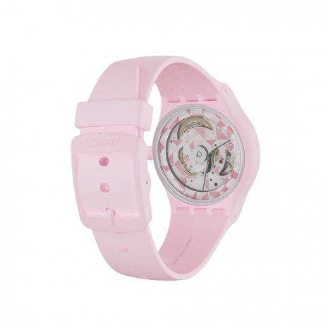 Pink Automatic Watch with date Fall Winter Collection Swatch