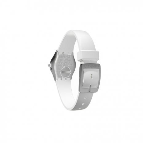 Steel & White Irony Ladies Watch Fall Winter Collection Swatch