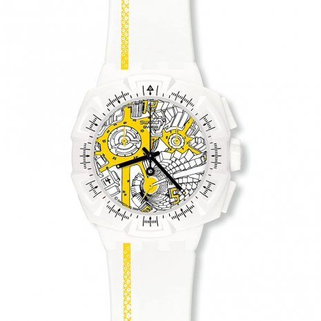 Swatch Street Map Yellow watch