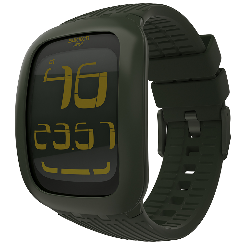 2228867b6d0 Swatch SURG101 Digital watch - Touch Olive