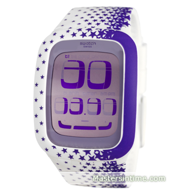 watch White Quartz Digital