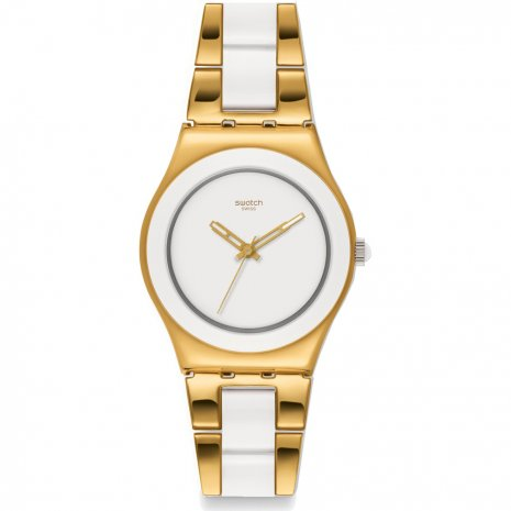 Swatch Yellow Pearl watch